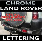 LAND ROVER FREELANDER CHROME BUMPER LETTERING